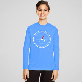 Men's Running Long Sleeve Tech Tee - Compass - It's Not Where You Take The Trails
