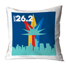 Running Decorative Pillow - NYC 26.2