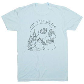 Vintage Running T-Shirt - Run Or Die Skull