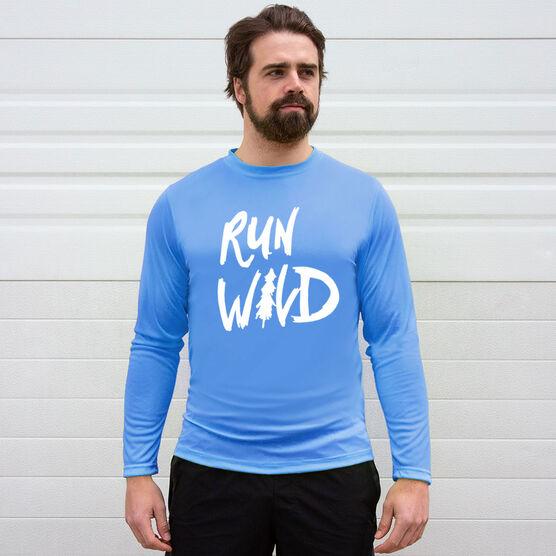 Men's Running Long Sleeve Tech Tee - Run Wild Sketch