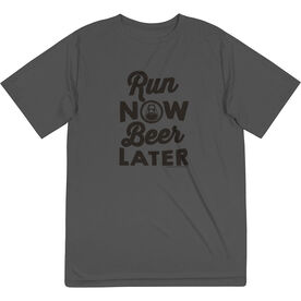 Men's Running Short Sleeve Tech Tee - Run Club Run Now Beer Later