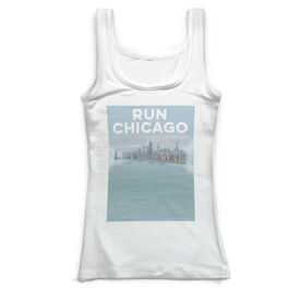 Running Vintage Fitted Tank Top - Chicago Sketch