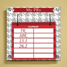 Dry Erase My PRs Houndstooth Wall BibFOLIO® Display