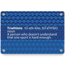 Triathlon Metal Wall Art Panel - Triathlete Definition