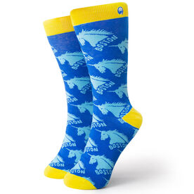 Men's Running Dress Socks - Run With Unicorns