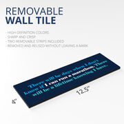"Running 12.5"" X 4"" Removable Wall Tile - I Can Run A Marathon"