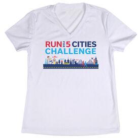Women's Short Sleeve Tech Tee - Run For 5 Cities Challenge