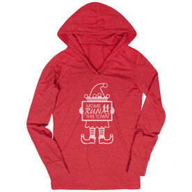 Running Lightweight Performance Hoodie - Moms Run This Town Elf