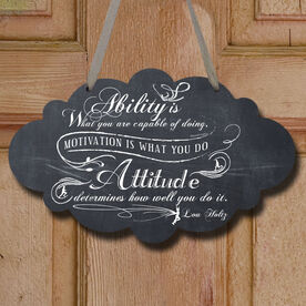 Vintage Ability Is What You Are Capable Of Doing Decorative Cloud Sign