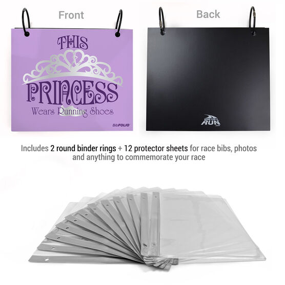 BibFOLIO® Race Bib Album - This Princess Wears Running Shoes