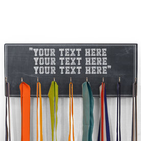Hooked On Medals Hanger Chalkboard Custom Text