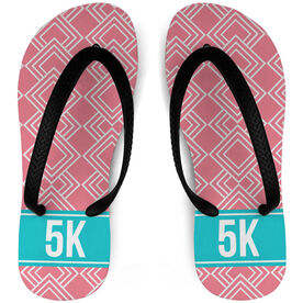 Running Flip Flops Diamond Pattern With Ribbon 5K