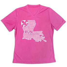 Women's Short Sleeve Tech Tee - Louisiana State Runner