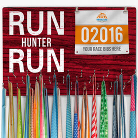 Hooked On Medals Bib & Medal Display Run Your Name Run