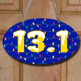 13.1 Christmas Lights Decorative Oval Sign