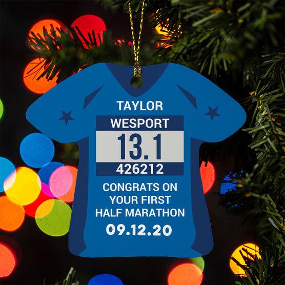 Running Ornament - Custom Bib Shirt