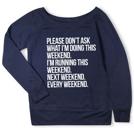 Running Fleece Wide Neck Sweatshirt - All Weekend Running