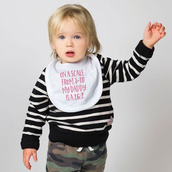 Running Baby Bib - My Daddy Is A 26.2