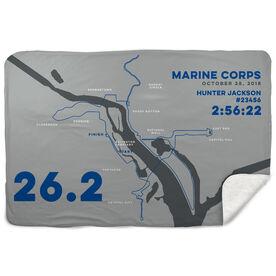 Running Sherpa Fleece Blanket - Marine Corps 26.2 Route