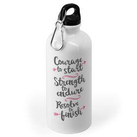 Running 20 oz. Stainless Steel Water Bottle - Courage To Start