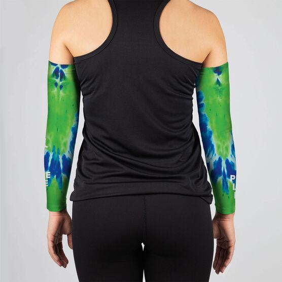 Running Printed Arm Sleeves - Peace Love Run