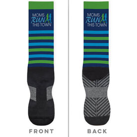 Running Printed Mid-Calf Socks - MRTT