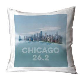 Running Throw Pillow - Chicago Sketch