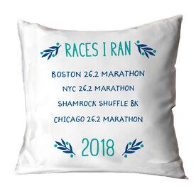 Running Throw Pillow - Races I Ran