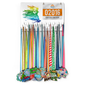 Running Large Hooked on Medals and Bib Hanger - Runnergy