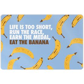 "Running 18"" X 12"" Aluminum Room Sign - Eat The Banana"