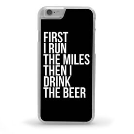 Running iPhone® Case - Then I Drink The Beer