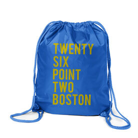 Running Sport Pack Cinch Sack Twenty Six Point Two Boston Text