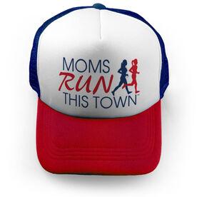Running Trucker Hat - Moms Run This Town Logo RWB