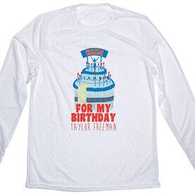 Men's Running Customized Long Sleeve Tech Tee For My Birthday RUN