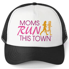 Running Trucker Hat - Moms Run This Town Poppy Pattern