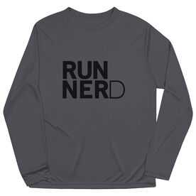 Men's Running Long Sleeve Tech Tee - RUNNERD