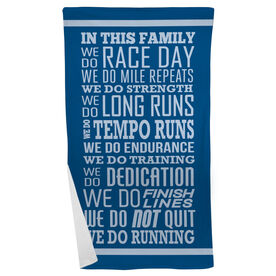 Running Beach Towel We Do Running
