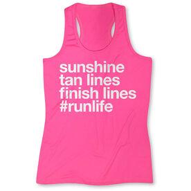 Women's Performance Tank Top - Sunshine Tan Lines Finish Lines