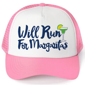 Running Trucker Hat - Will Run For Margaritas