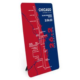 Running Desk Art - Chicago 26.2 Route