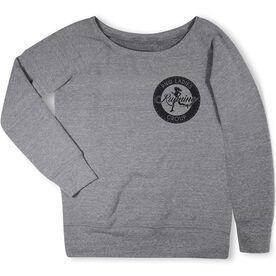Running Fleece Wide Neck Sweatshirt - Pacific Northwest Ladies Running Group Logo (Black)