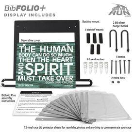 BibFOLIO+™ Race Bib and Medal Display The Human Body (Rustic)