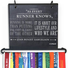 BibFOLIO Plus Race Bib and Medal Display - As Every Runner Knows Chalkboard