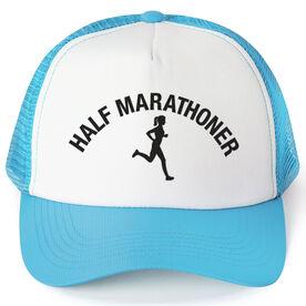 Running Trucker Hat - Half Marathoner Girl
