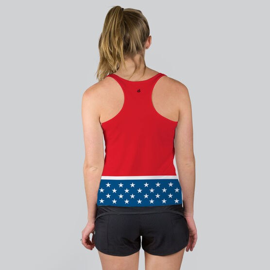 Women's Performance Tank Top - Super Runner with Stars