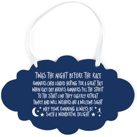 Running Cloud Sign - Twas The Night Before The Race (Simple)