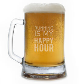 Running 15 oz Beer Mug Running Is My Happy Hour