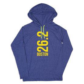 Men's Running Lightweight Hoodie - Boston 26.2 Vertical