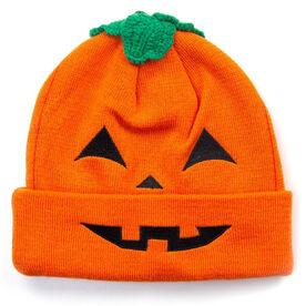 Happy Hatter Pumpkin Knit Beanie Hat