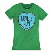Women's Everyday Runners Tee - Love 2 Run Candy Heart (Race Special)